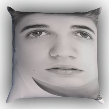 Justin Bieber Zippered Pillows  Covers 16x16, 18x18, 20x20 Inches