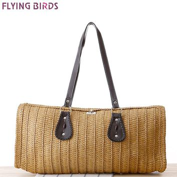 FLYING BIRDS beach bag women handbags women straw bag summer style handbags bolsas women's bags brands travel bags a1227fb