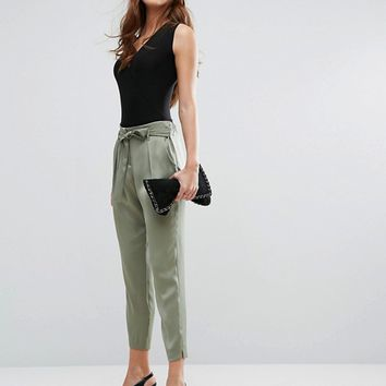 River Island Soft Utility Trousers at asos.com