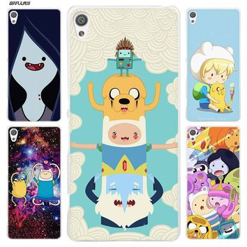 BiNFUL Adventure Time Clear Cover Case for Sony Xperia XA XA1 X XZ Z5 Z1 Z2 Z3 M4 Aqua M5 E4 E5 C4 C5 Compact Premium