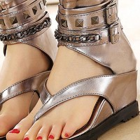 Wedges Unchained Gladiator Sandals - 2 Styles & Two Colors