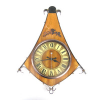 Soviet vintage wall clock Majak quartz clock home decor retro warm brown natural amber brown