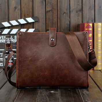 retro casual business leather bag gift coffee