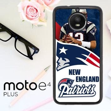 New England Patriots W3015 Motorola Moto E4 Plus Case
