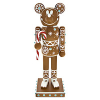 Mickey Mouse Gingerbread Man Nutcracker Figure - 14'' | Disney Store