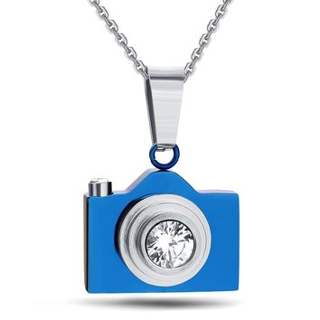 NIBA New Fashion Jewelry Camera Necklaces Pendants Hot Sale Black / Silver Colors Lovely Stainless Steel Fashion Designer Bijoux