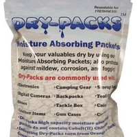 Dry-Packs 1-Ounce Moisture Absorbing Indicating Silica Gel, Pack Contains 5 Packets