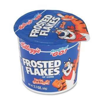 Keebler Cereal-in-a-Cup, Super Size, 2.1 oz., 6/PK, Frosted Flakes Case Pack 3