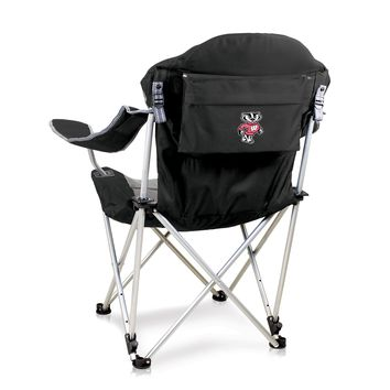 Wisconsin Badgers Reclining Camp Chair