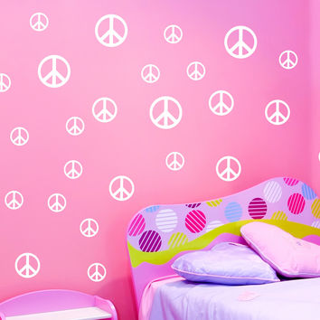 Peace Symbol wall decals