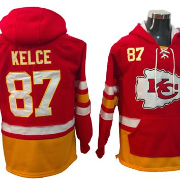 KUYOU Kansas City Chiefs Lacer - Travis Kelce Red Pullover