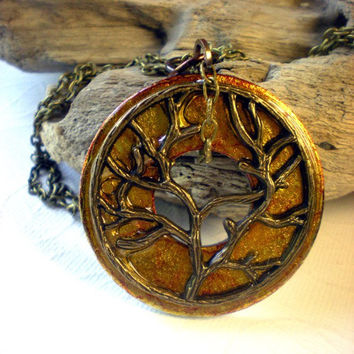 Tree of Life Pendant Butterscotch Tree of by MaddDoggofTomorrow
