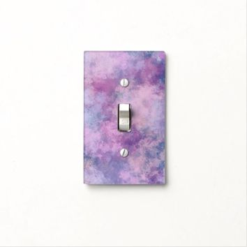 Abstract Blue, Lilac, Pink Acrylic Painting Light Switch Plates