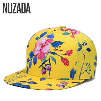 Brand NUZADA Luxury Men Women Baseball Cap Bone 3D Printing Caps Cotton Snapback Internal Double Layer Spring Summer Hats