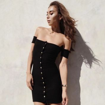 Fashion Women's Sexy off Shoulder Dresses Summer