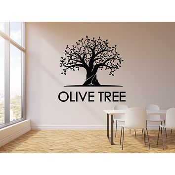 Vinyl Wall Decal Olive Tree Leaves Nature Kitchen Decor Stickers Mural (g823)