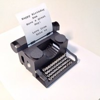 Personalised Typewriter Popup Card