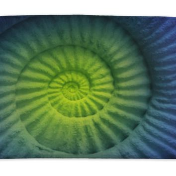 Bath Mat, Abstract Colors Of Ammonite Prehistoric Fossil