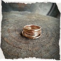Hammered Brass Stacking RIng