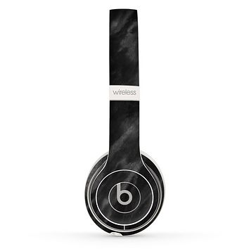 The Black Marble Surface Skin Set for the Beats by Dre Solo 2 Wireless Headphones