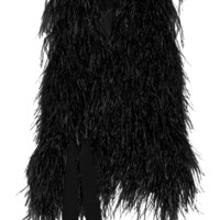 Elizabeth and James - Xiomara feather-embellished crepe vest