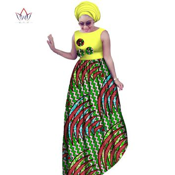Women's Traditional African Dress 2 PC Sets M-6XL  Maxi Dresses+Head Scarf