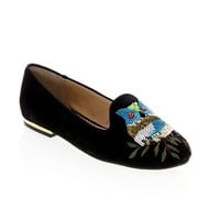 Rara Avis by Iris Apfel Suede Loafer with Owls at HSN.com