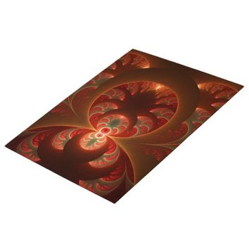 Luminous abstract modern orange red Fractal Jigsaw Puzzle