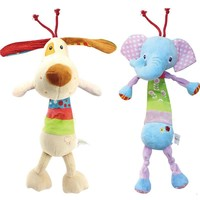 Musical and Shake Baby Toys stuff with Ring Bell Cute Cartoon Animal Plush creative Doll Early Educational toys gift