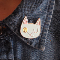 Enamel cat lapel pin - Cat pin - Enamel pin - Enamel cat pin - I like cats - Cat lapel pin - Cat jewellery - Cat gifts - Cats - Cat - Pin