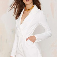Blazer of Glory Tux Romper - White