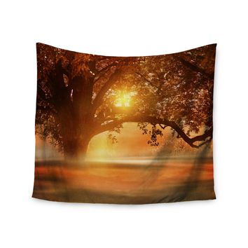 """Viviana Gonzalez """"Romance In Autumn"""" Orange Gold Wall Tapestry - Outlet Item"""