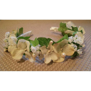 Ivory Faerie fairy bridal wedding headband accessory