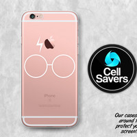 Glasses Lightning Scar Clear iPhone 6s iPhone 6 iPhone 6 Plus iPhone 6s Plus iPhone 5c iPhone 5 SE iPhone 7 Plus White Harry Potter Inspired