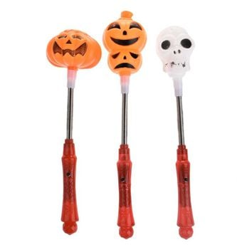 1pc Cute Halloween LED Light Pumpkin Ghost Glow Stick Halloween Costume Party Shake Stick Glow Party Supplies Decoration