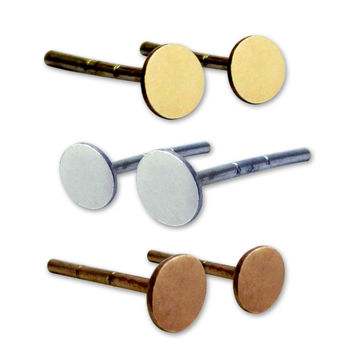 Solis Trinity Stud set Silver Gold and Rose Gold
