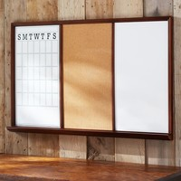 Study Wall Boards - Dark Espresso Frame Triple