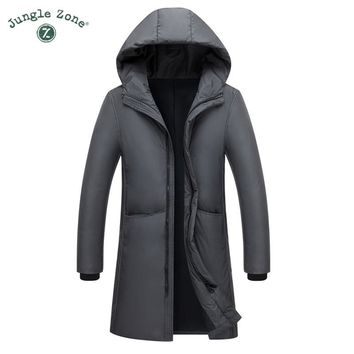 Trendy 2018 New Long Can Withstand - 20 Degrees Winter Jacket Men Big Real Fur Collar Hooded Duck Down Jacket Big Size 2XL 3XL 7805 AT_94_13