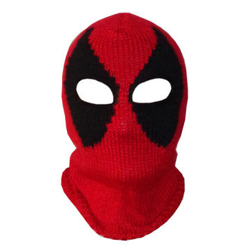 Deadpool Mask , Marvel Beanie Mask- Superhero Mask- Movie Merc Newborn Child Teen - Halloween / Cosplay / Baby Shower Gift