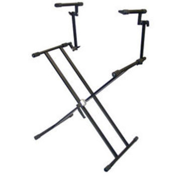 Digital Electronic Keyboard Piano DJ Table Stand Mount Holder Two Tier Design Height Adjustable
