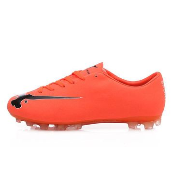 Men Football Orange Green Boys Soccer Cleats Super Light Football Soccer Cleats Cheap Football Boots