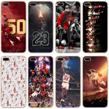 G157 Michael Jordan 23 Transparent Hard Thin Case Cover For Apple iPhone 4 4S 5 5S SE