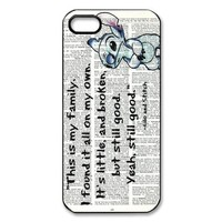 Mystic Zone Lilo & Stitch Case for iPhone 5 Cover Famous Cartoon Fits Case WSQ1144