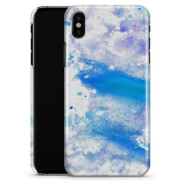 Blue Watercolor on White - iPhone X Clipit Case
