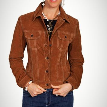 Scully Classic Jean Leather Suede Jacket~ Cafe Brown
