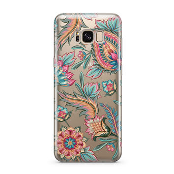 Lola Paisley - Clear Case Cover for Samsung