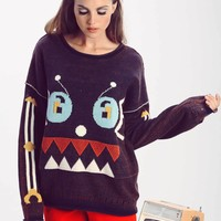 Robot Friend Bloomy Sweater