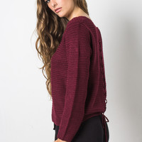 Fox + Hawk Amanda Sweater - Merlot