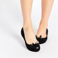 Melissa | Melissa Ultragirl Black Cat Flat Shoes at ASOS