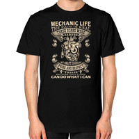 Mechanic life Unisex T-Shirt (on man)